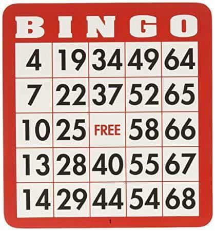 voorbeeld bingo kaart