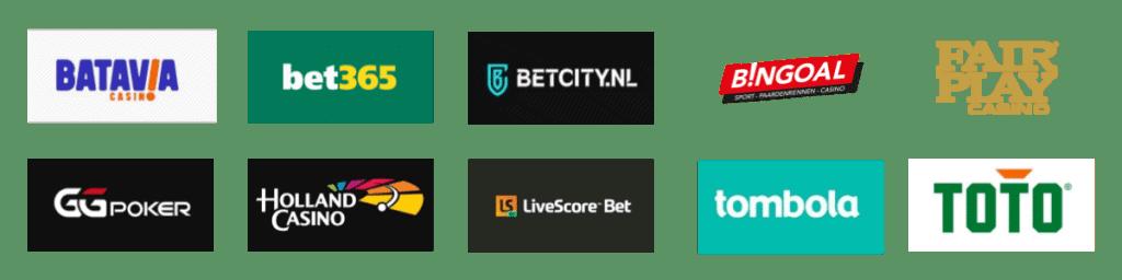 Legale aanbieders van online gokken in Nederland per 1 oktober 2021